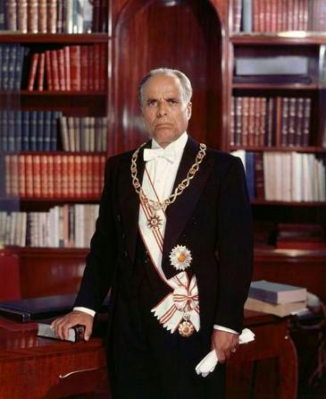 Portrait of the first president of the Republic of Tunisia, Habib Bourguiba (photo: Wikipedia)