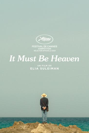 "Film poster of Elia Suleiman's ""It Must Be Heaven"" (distributed by Le Pacte)"