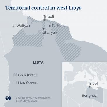 Infographic showing territorial control in western Libya (source: Deutsche Welle)