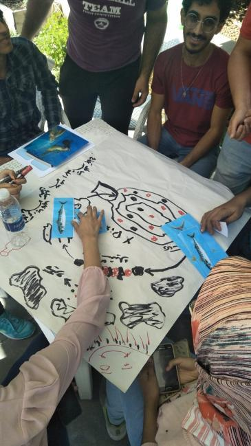 People attending a workshop on marine litter (photo: Banlastic Egypt)