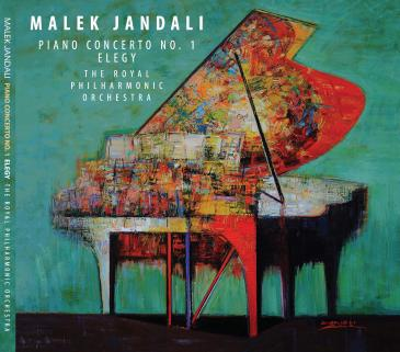 """Cover of Malek Jandali's album """"Piano Concerto No. 1 Elegy"""" (published by Soul b Music)"""