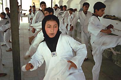 Children and young people practice Taekwondo in the Kabul Children's Circus. In addition to artistic exercises, the Children's Circus emphasizes the value of athletic training. Martial arts have a long tradition in Afghanistan