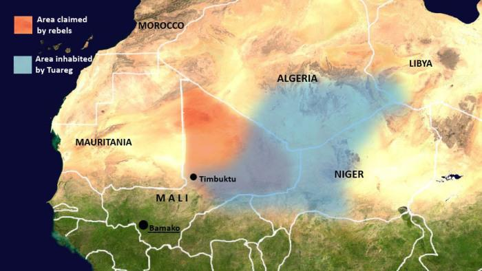 Tuareg Berber populations in Mali
