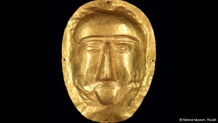 Golden death mask