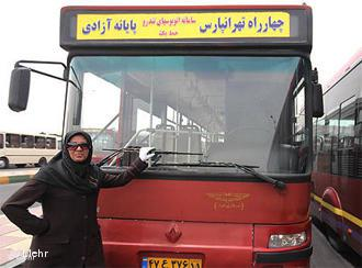 Bus driver in Tehran