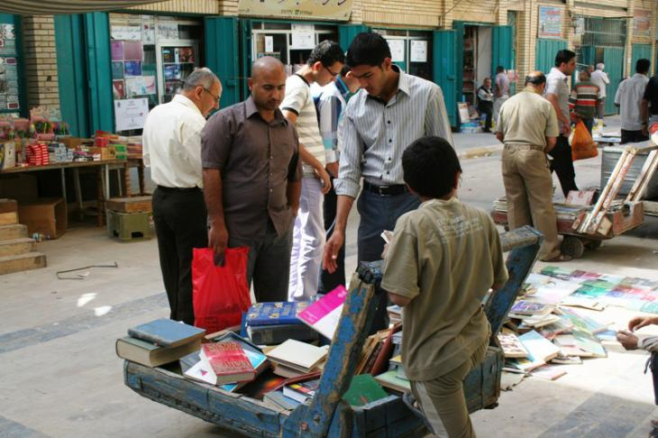 Every Friday, traders invite people to take look at the kind of books that were forbidden for 30 years by the Ba'athist regime
