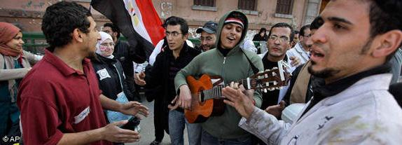...for some, this is a chance to get together and sing some revolutionary songs