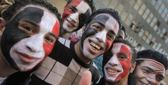 Egyptian youngsters on the streets of Cairo: As well as anger and annoyance, the young anti-Mubarak demonstrators also share some happy moments