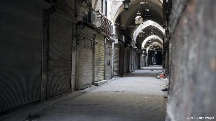 Historic bazaar in Aleppo
