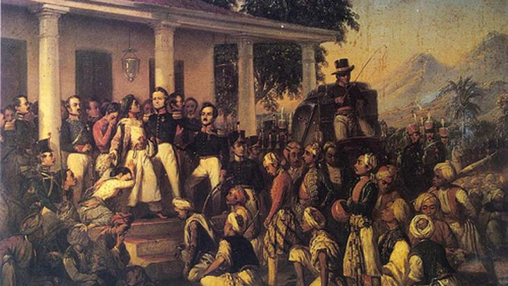 The arrest of Prince Diponegoro (image: © in the public domain)