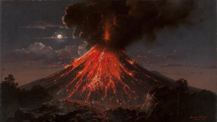 Eruption of Mount Merapi (image: © Lindenau-Museum Altenburg)