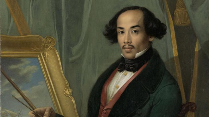 Raden Saleh in his studio (image: © in the public domain)