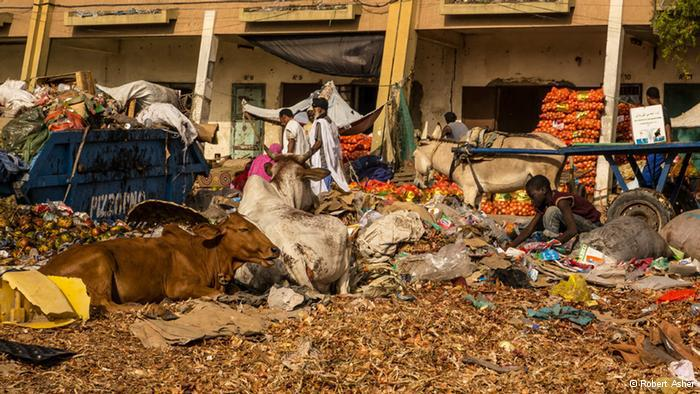 A market in Mauritanian (photo: Robert Asher)