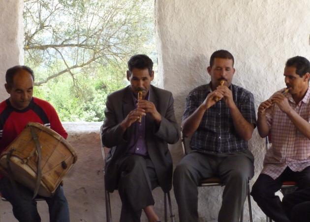 The Master Musicians at a rehearsal in Joujouka (photo: © Arian Fariborz)