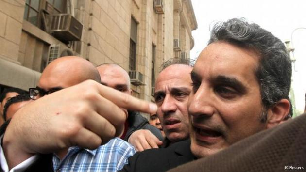 Bassem Youssef in Cairo (photo: Reuters)