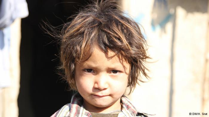 An Afghan child refugee (photo: DW/H. Sirat)