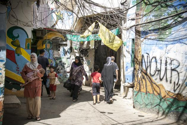 An alleyway in the Shatila refugee camp (photo: Mohammad Reza Hassani)
