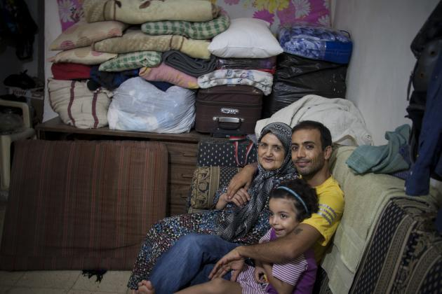 Abed and his family in the Shatila refugee camp (photo: Mohammad Reza Hassani)