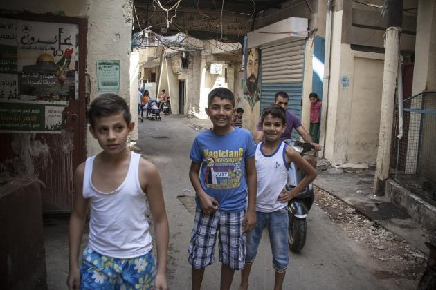 Children in the Shatila refugee camp (photo: Mohammad Reza Hassani)