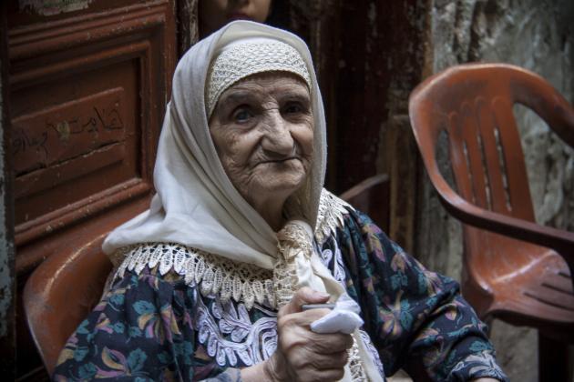 Umm Aref in the Shatila refugee camp (photo: Mohammad Reza Hassani)