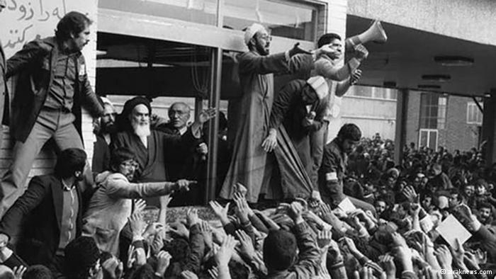 Khomeini at Tehran Central Cemetery (photo: araknews.com)