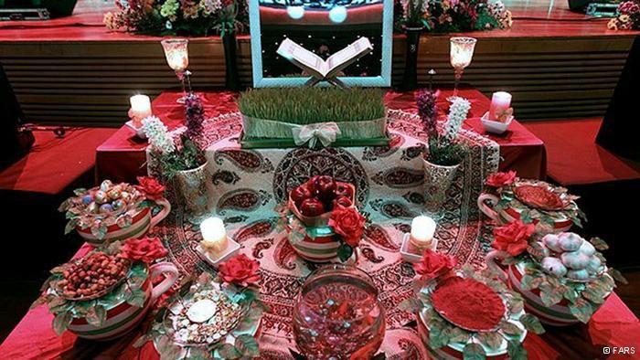 """A """"Haft Sin"""" table (photo: © Fars)"""