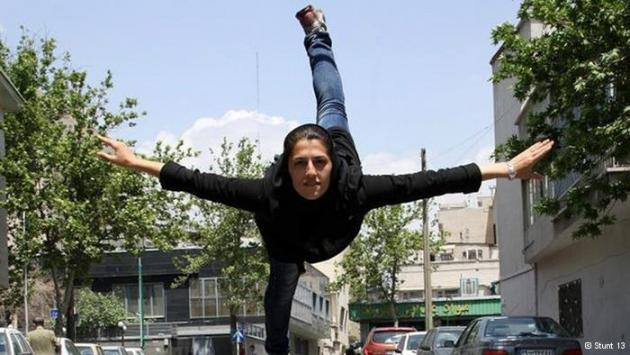 Stunt woman and trained gymnast Mahsa Ahmadi (photo: Stunt 13)