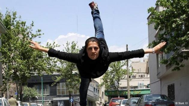 Stunt woman and trained gymnast Mahsa Ahmadi (photo: Stunt 13)