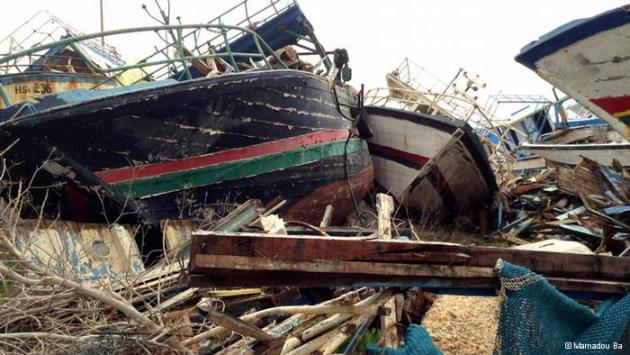 The graveyard of the boats on Lampedusa (photo: Mamadou Ba)