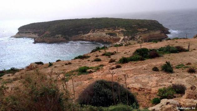 The coast of Lampedusa and the Mediterranean (photo: Mamadou Ba)