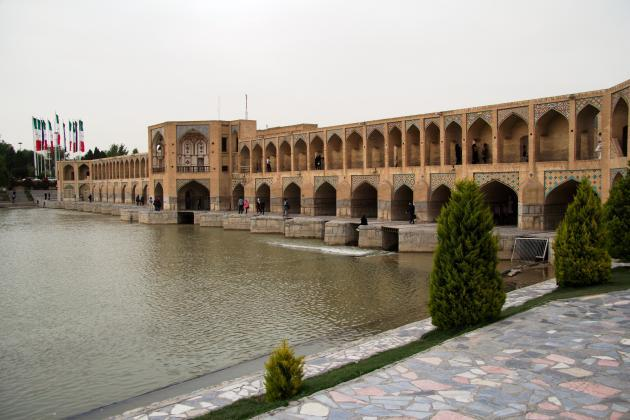 Khaju Bridge in Isfahan (photo: Shohreh Karimian/Johannes Ziemer)