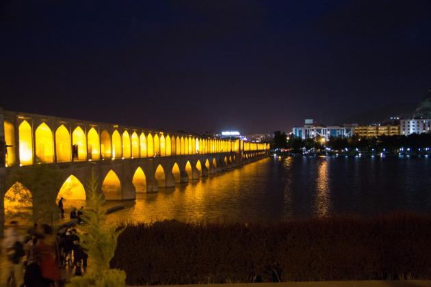Siose Bridge in Isfahan (photo: Shohreh Karimian/Johannes Ziemer)