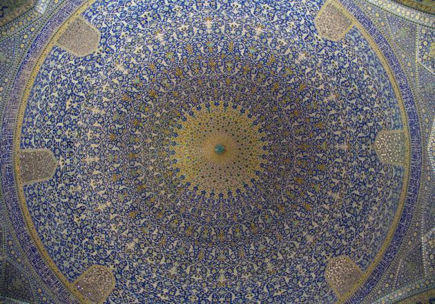 The main dome of the Shah Mosque in Isfahan (photo: Shohreh Karimian/Johannes Ziemer)
