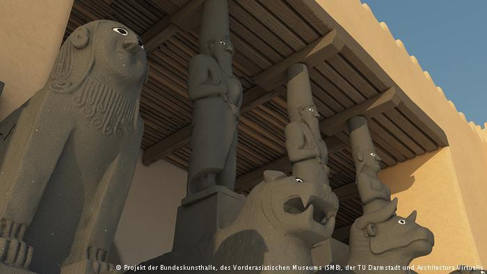 Virtual film reconstruction at the Art and Exhibition Hall of the Federal Republic of Germany in Bonn (photo: Bundeskunsthalle, the Vorderasiatisches Museum, the Technical University of Darmstadt and Architectura Virtualis)