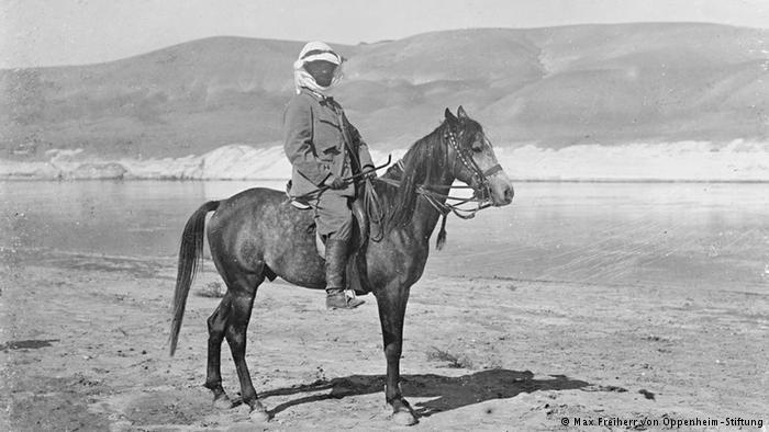 Max von Oppenheim on a horse (photo: Max Freiherr von Oppenheim-Stiftung)