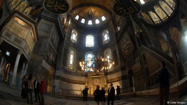 Interior of Hagia Sophia. Photo © Getty Images