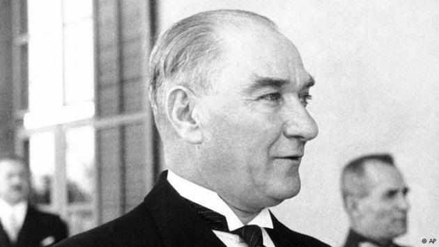 Black-and-white photo of Mustafa Kemal Atatürk, circa 1938. Photo © AP