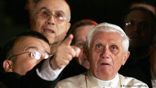 Pope Benedict XVI on his visit to Hagia Sophia in 2006. Photo © Patrick Hertzog/AFP/Getty Images