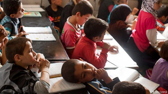 Syrian refugee children in class in Beirut (photo: Amy Leang)
