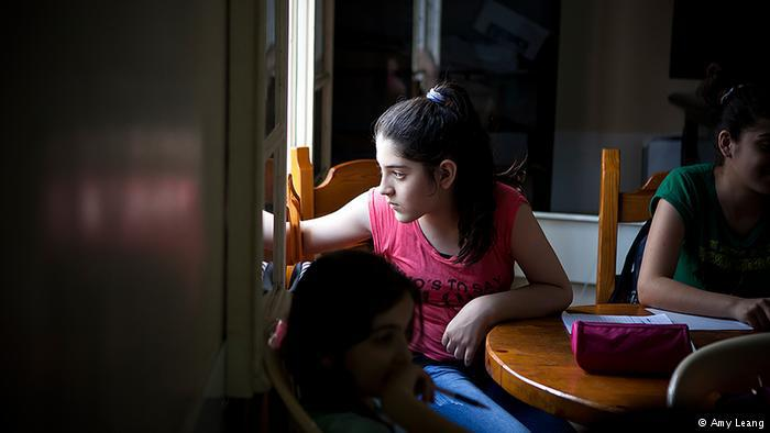 Child in a creative writing class, Karam Zeitoun School, Beirut (photo: Amy Leang)