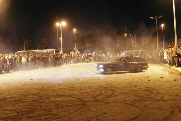 "Spectators at a ""Drifting"" show (photo: Valerie Stocker)"