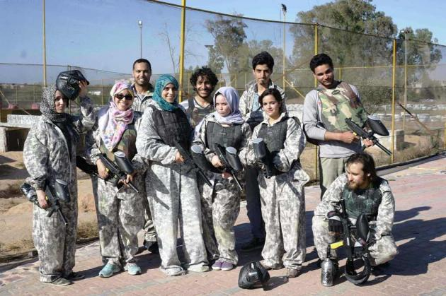 Young Libyans playing paintball (photo: Valerie Stocker)