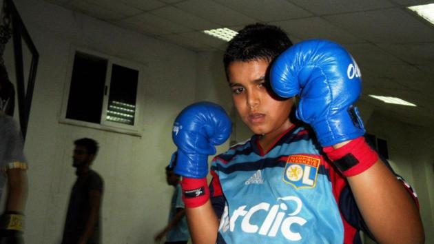 A boy training at a boxing club in Tripoli (photo: Valerie Stocker)