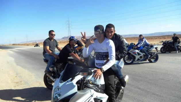 Young people during a motorbike rally (photo: Valerie Stocker)
