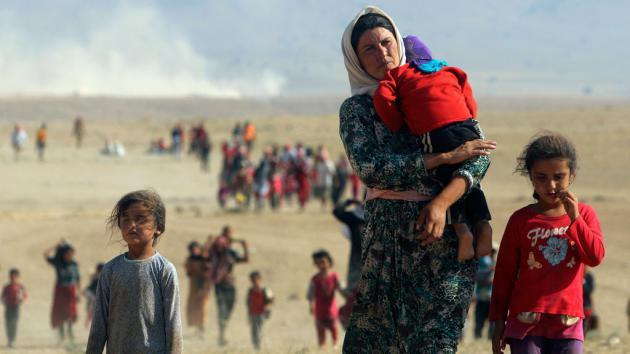 Yazidi refugees (photo: Reuters)