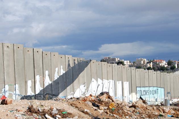 Graffiti by the Italian artist Blu at the Aida Camp near Bethlehem (photo: Laura Overmeyer)