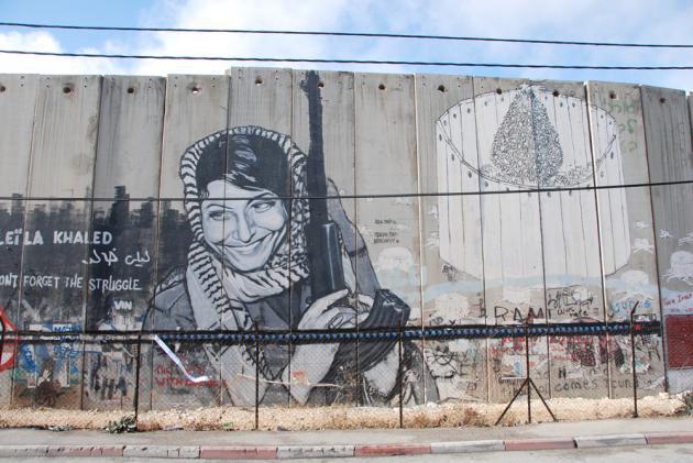 Portrait of the PFLP fighter Leila Khaled (photo: Laura Overmeyer)