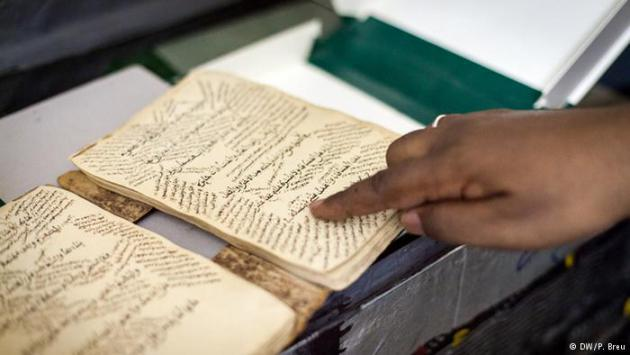 An old manuscript from Timbuktu (photo: DW/P. Breu)