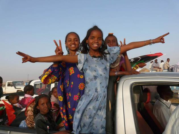 Tebu children, Murzug, southern Libya, April 2013 (photo: Valerie Stocker)