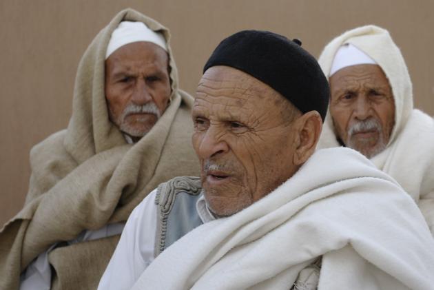 Tribal elders, near Zahra, western Libya, January 2014 (photo: Valerie Stocker)